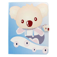 Flower animal PU leather case pouch bag with card slots for iPad 2 3 4