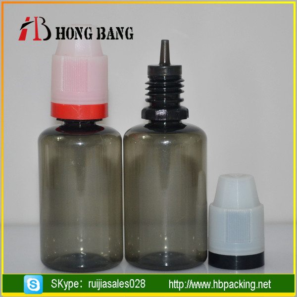 High quality plastic 10ml 30ml PET material e liquid e cig bottle with child resistance tamper cap