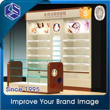 2016 furniture storage cosmetic display cabinet and showcase