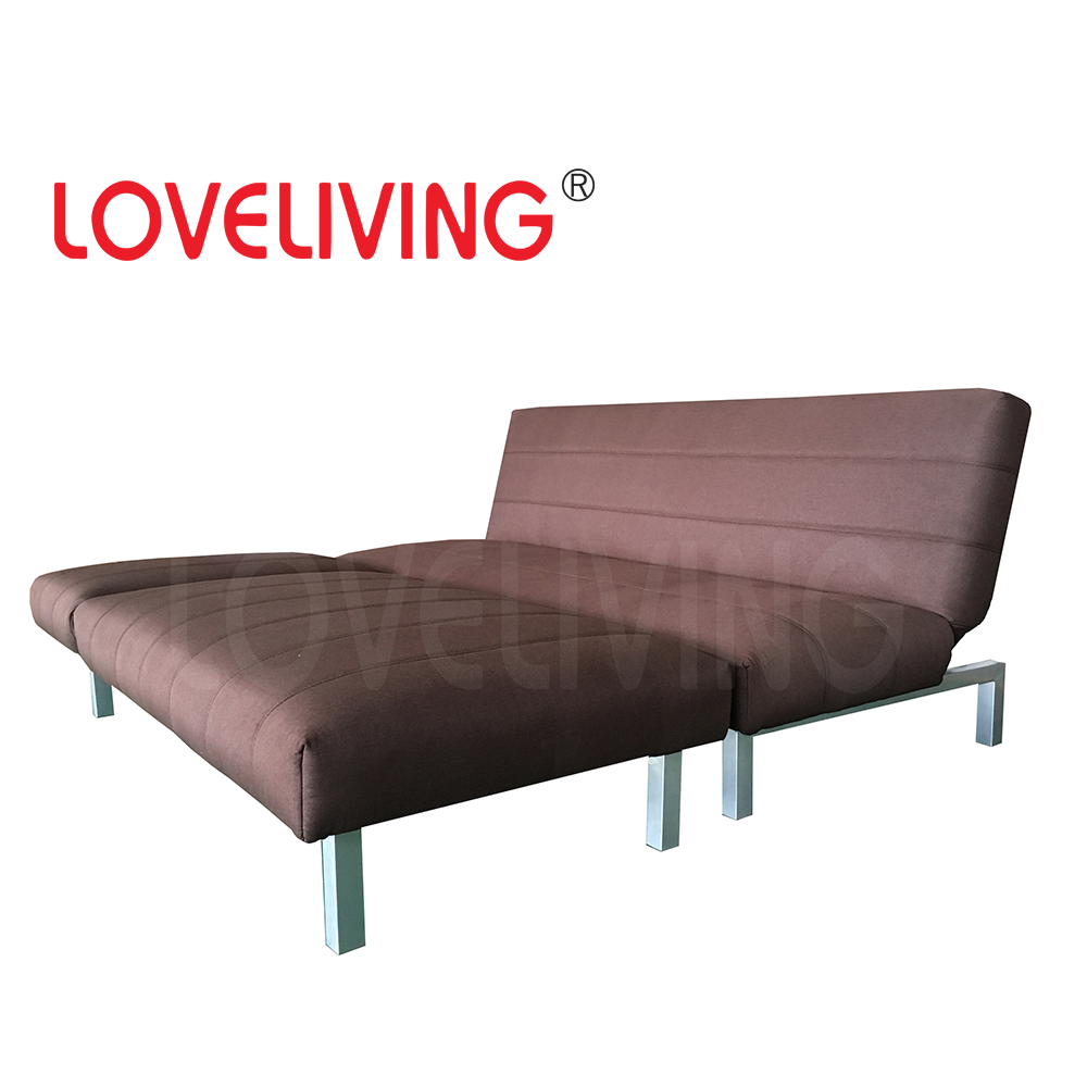 Wood Frame Metal Leg Coner Sofa Bed for night and day