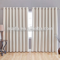 100% polyester blackout curtains soft hand feel 95% sunshade blackout fabrics for curtain