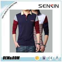 Classical Styling Custom Raglan Long Sleeve Mens Polo Shirt Design With Chest Pocket OEM