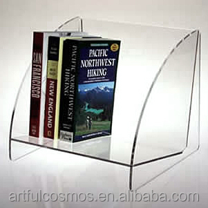 best selling Fashionable Customized Acrylic Book Stand Lucite Magazine Display Rack