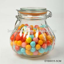 swing top glass jar,glass candy jar with swing top and lid