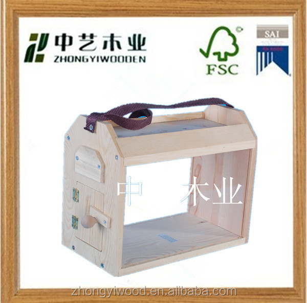 fashion custom wholesale Manufacturer mesh top hinged door wooden insect box
