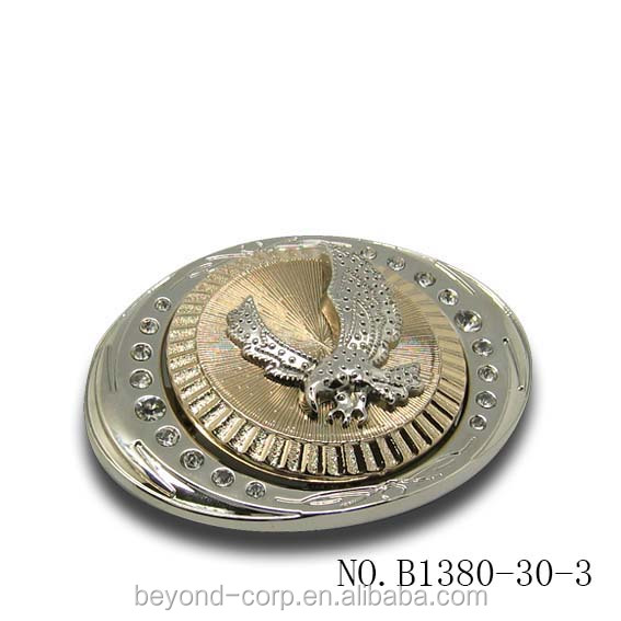 Western cowboy fly eagle double color belt buckle