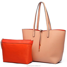 2017 NEW ARRIVAL LT6628 - MISS LULU WOMEN REVERSIBLE CONTRAST SHOPPER TOTE BAG GUANGZHOU BAG PU LEATHER BAG EBAY AMAZON HOT SELL