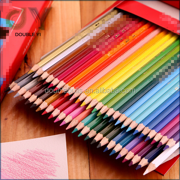 Eco friendly Colourful Writing Pencils Wooden Water Soluble Color Pencil Set / 12 24 36 48 color