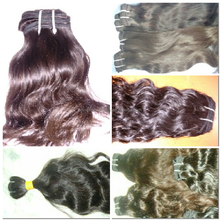 Raw hair Long Lasting Water Wave Indian Gray Remy Hair Extensions virgin indian texture remy hair