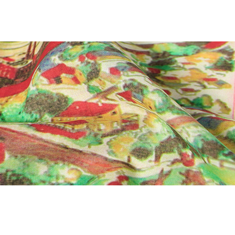 Colorful painting woman designer cotton scarf