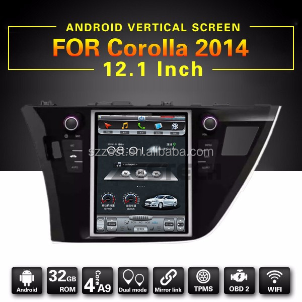 Sale hot Android PX3 car audio with Wifi 3G mirror link functions, for toyota corolla android car dvd^
