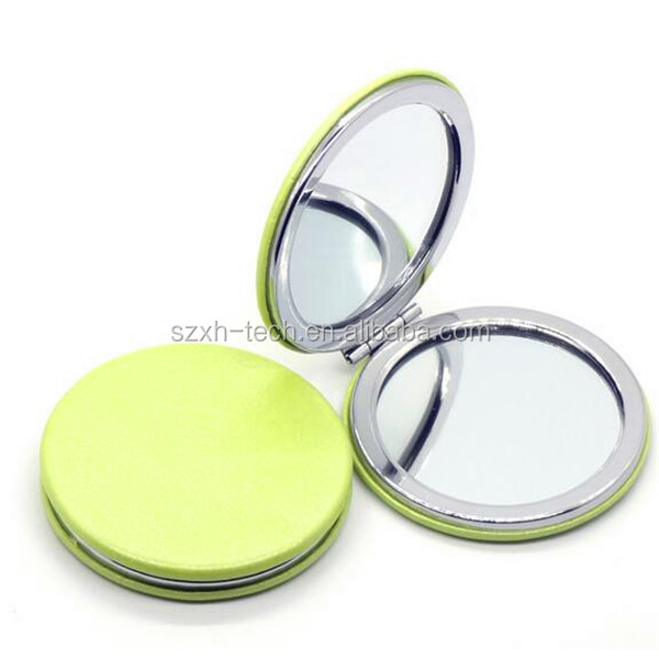 whole sale PU custom promotion compact mirror,magnetic mirror,promotion magnetic mirror with great price