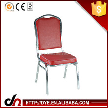 Customized stacking strong frame metal banquet chair for hotel