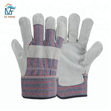 CE EN388 420 Mens Construction Cow Split Safety Leather Work Gloves