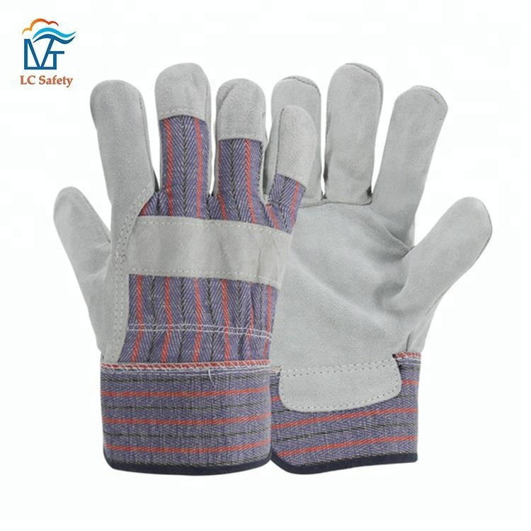 Mens Construction Cowhide Cheap Protective Leather Work <strong>Gloves</strong>