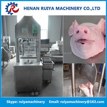 Pig head hydraulic cutting machine with electric meat saw as pig abattoir equipment
