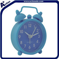 Blue Mini Silicon Table alarm Clock for Promotion