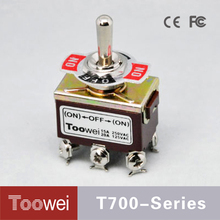 Manufacturers supply (ON)-OFF-(ON) 12mm sample free mini toggle switch