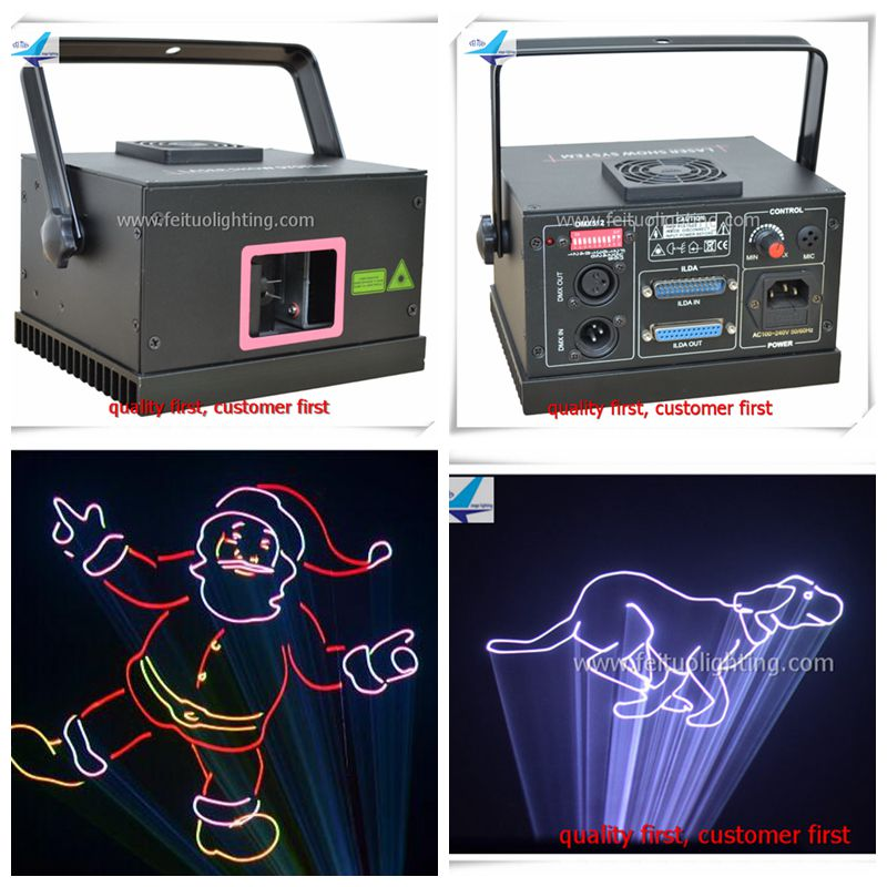 Full color animation laser light 500mw rgb laser projector