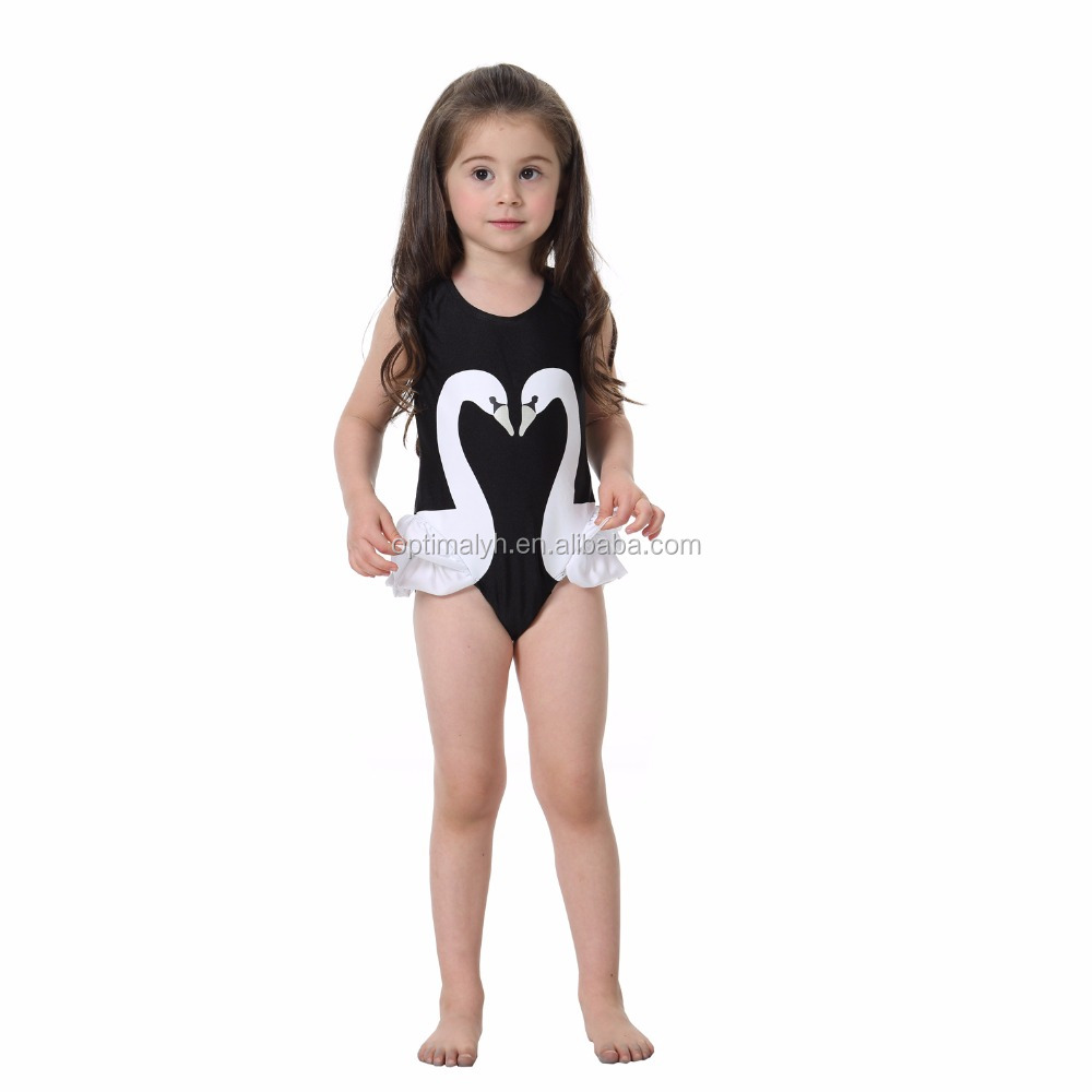 Girls Swimsuit One Piece Swimwear 2017 Baby Girl Swimwear Kids Bathing Suit Print Children Swimsuit
