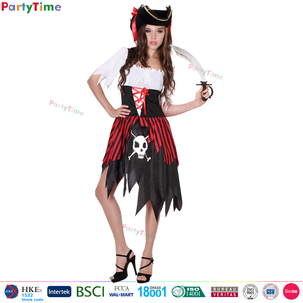 PT1218 china supplier wholesale halloween cosplay women pirate costume