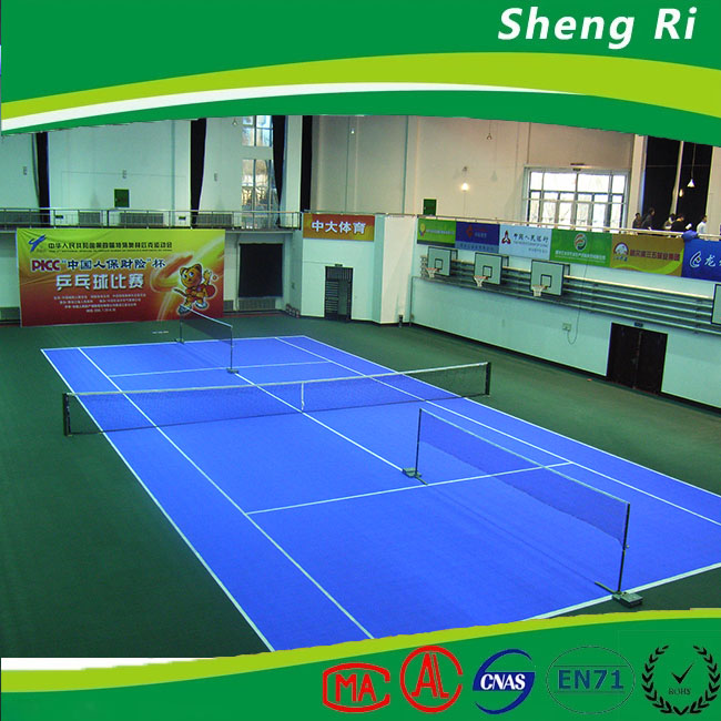 portable tennis court recycled plastic flooring