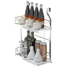 XM_448 Wall mounted wire metal kitchen spice rack