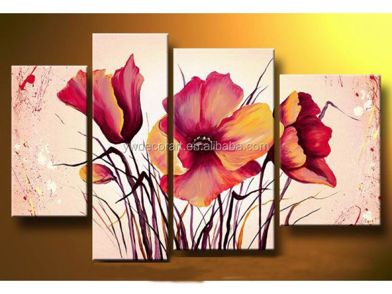 Beautiful design oil painting flowers in vases handmade abstract flower oil painting