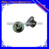 Flat head brass clothing rivets for decoration usage