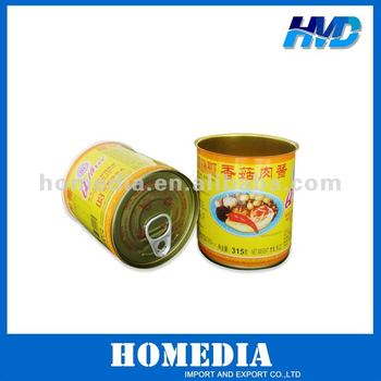 Tinplate three piece can for food packing