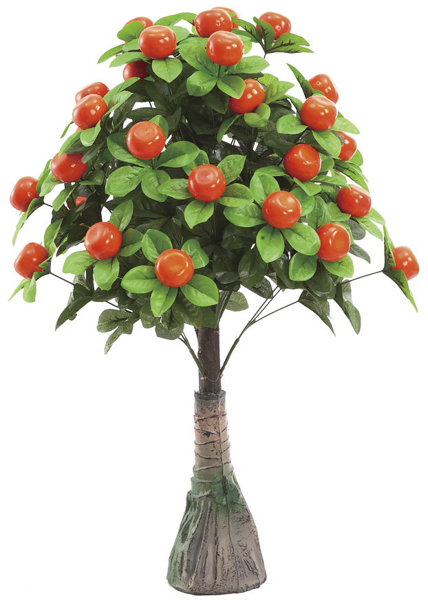 Factory price orange tree artificial apple branches and leaves with fruit