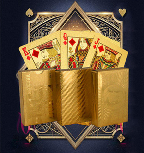 Certified Pure 24 K Carat Gold Foil Plated Poker Playing <strong>Cards</strong> w/ 52 <strong>Cards</strong> & 2 Jokers Special Unusual Gift Birthday Novelty