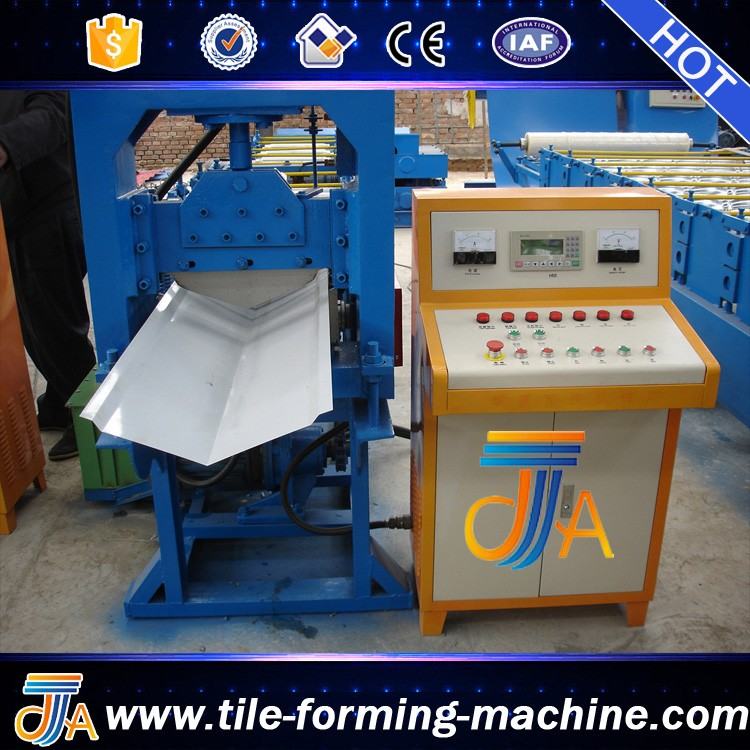 Classic Aluminum Colored Glaze Steel Metal Roof Ridge Cap Tile Cold Roll forming Making Machine by bello lin