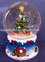 resin base glass christmas snow ball