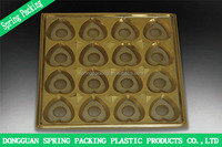 Custom Gold silver Plastic PET food grade Chocolate tray