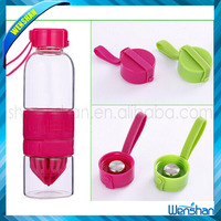 700ML Summer Hot Sale Glass Water Bottle with Fruit Infuser