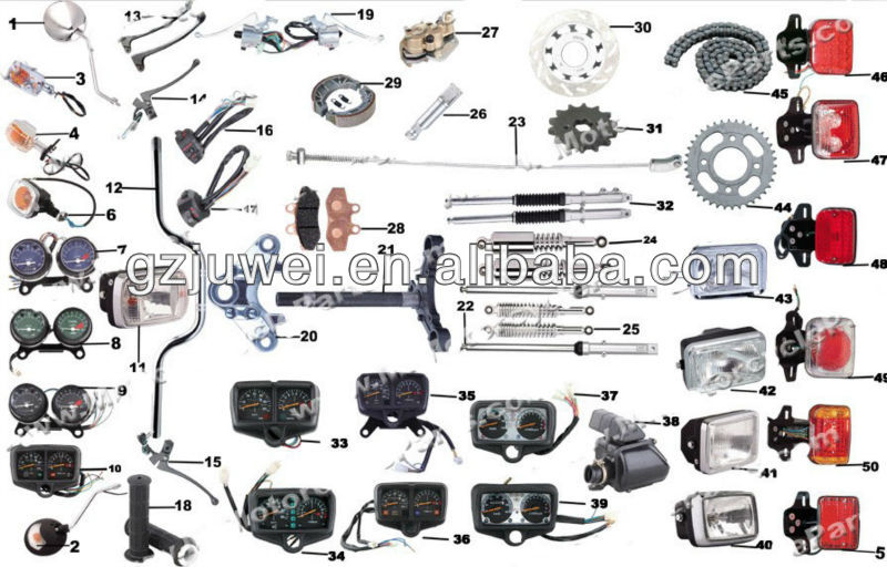 High performance CG125 motorcycle spare parts