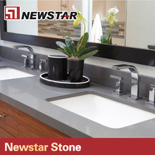 Grey Quartz Polished Man Made Stone Countertops