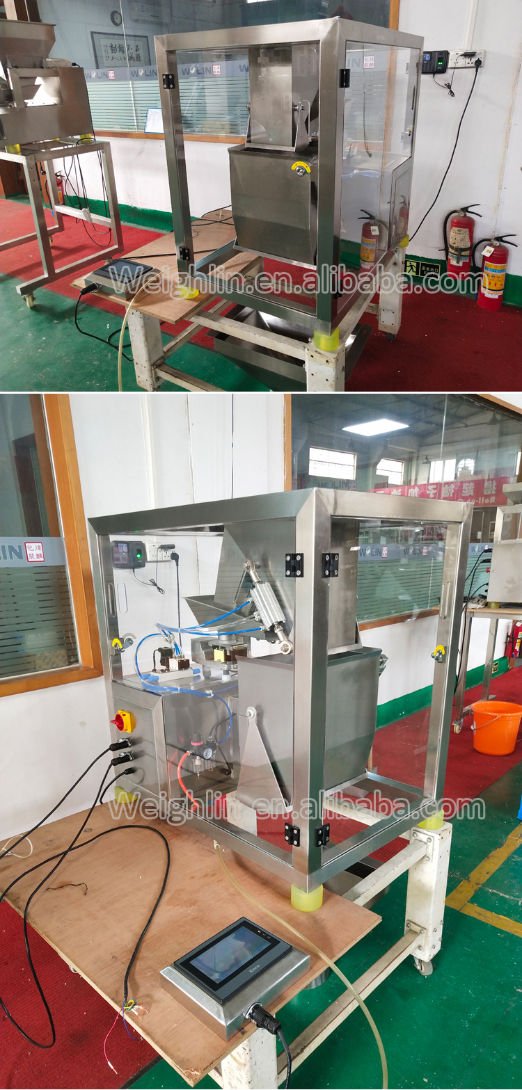 Automatic big weight free drop one head linear weigher packing machine for rice powder flour