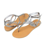 roman silver pu latest sandals for women 2013