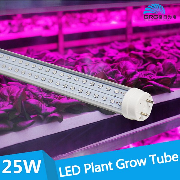 Hot sales Red Blue color 23W 4FT T8 LED grow light tube grow hydroponic light
