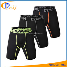 Men wholesale blank sweat shorts inner wear with compression logo waist