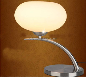white glass ball table lamp with power outlet