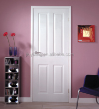 Made in China suppliers waterproof molded mdf pvc interior solid wood white with modern flush double doors design