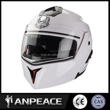 Full face flip up motorcycle helmet with ABS material