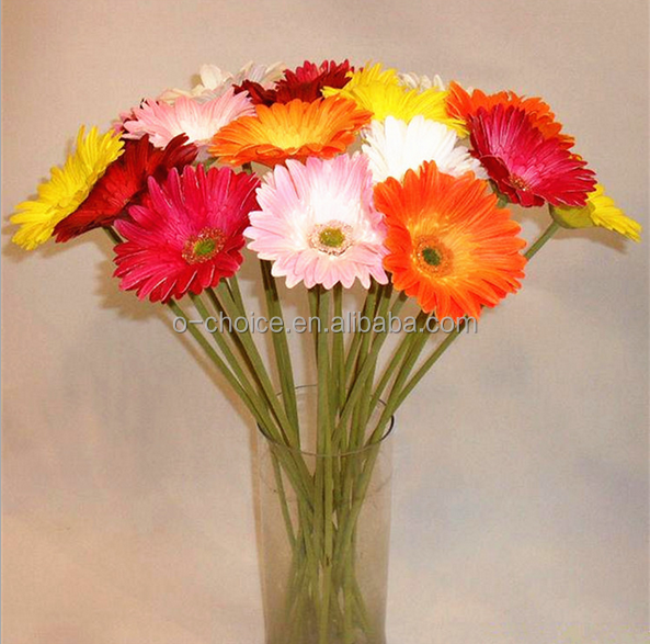 High end real touch barberton daisy artificial flowers making for home and gardon decoration