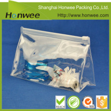 decorative ziplock bag plastic tote bag with zipper clear cosmetic pvc bag