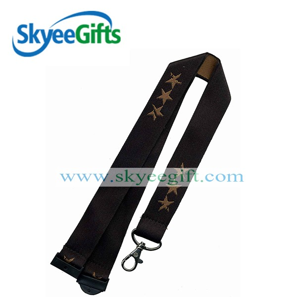 Promotional custom lanyard with yoyo badge holder wholesale