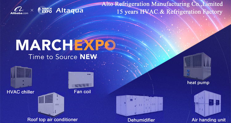 Altaqua chilled hot water horizontal exposed decorative fan coil unit