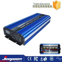 Power inverter 3000w peak 6000W DC 12V to AC 110V 100V 120V power inverter/converter with battery charge function